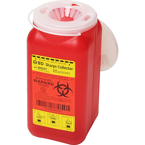 Sharps Collector 1.4Qt Red  1/CS