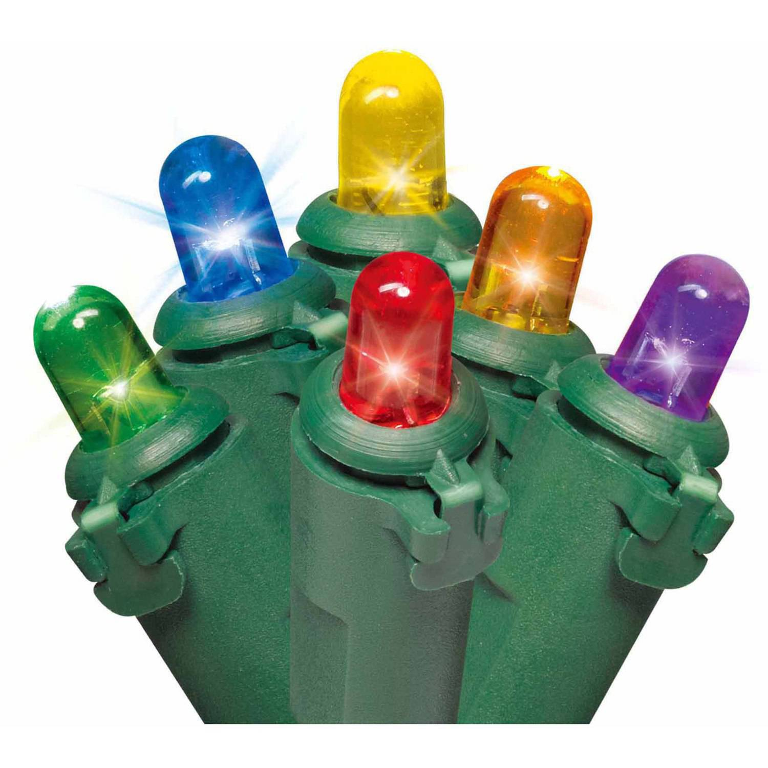 Holiday Time Multi-Color LED Dome Lights, 1000-Count