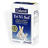 Enfamil Tri-Vi-Sol A, D And C Vitamin Supplement Drops For Intants And Toddlers - 50 Ml