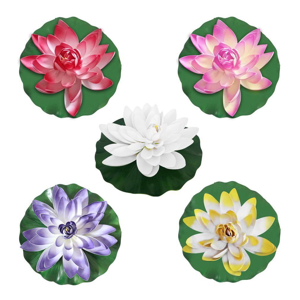 Led Lotus Flower Shape Colorful Garden Yard Fountain Water Float