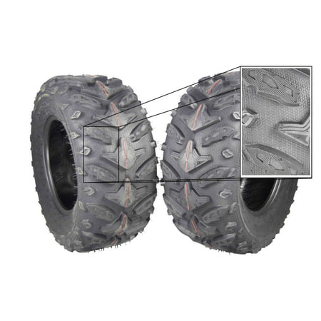 MASSFX Grinder 25x10-12 Rear 2 Set ATV Tires 25x10x12 Dual Compound - Dual Compound