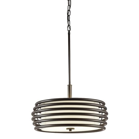 Aztec Lighting  Contemporary 3-light Olde Bronze Pendant