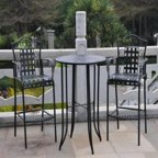 Belham Living Capri Wrought Iron Outdoor Bar Stool By