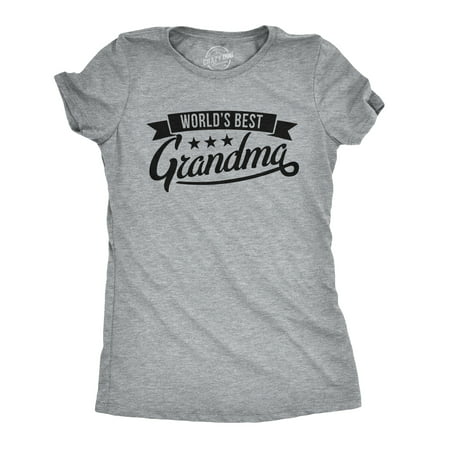 Womens Worlds Best Grandma Tshirt Funny Mothers Day Grandmother Tee For