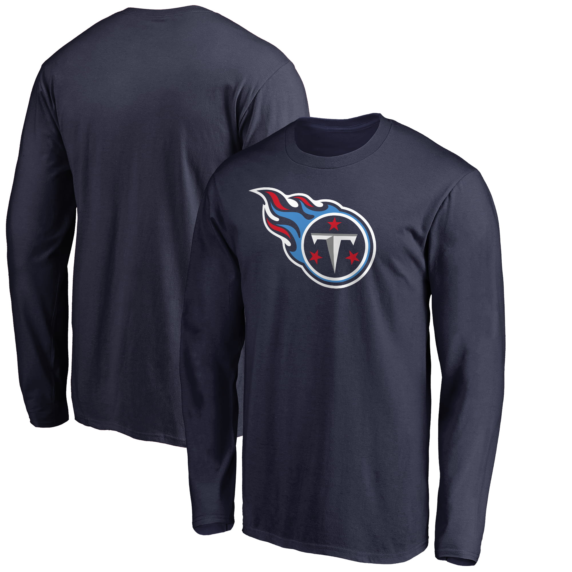 faac35382e4 NFL Pro Line by Fanatics Branded - Men s NFL Pro Line by Fanatics Branded  Navy Tennessee Titans Big   Tall Primary Logo Long Sleeve T-Shirt -  Walmart.com