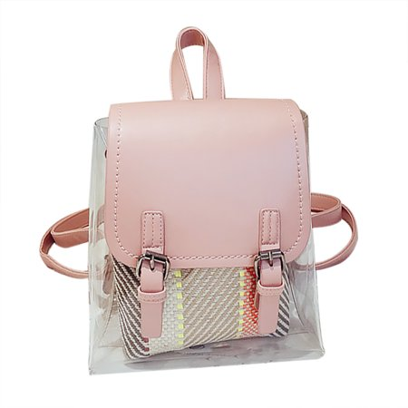 Clear Backpack Coofit All Match Fashionable Mini Small Travel Book Bag School For