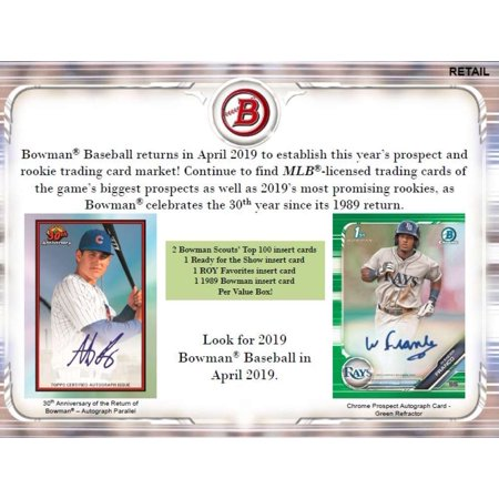 2019 Bowman Baseball Blaster 16 Box Case 6 Packs12 Cards 5 Inserts