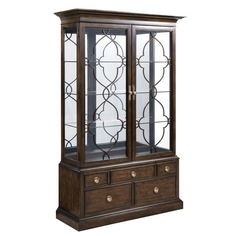 American Drew Grantham Hall Curio Cabinet in Coffee by American Drew