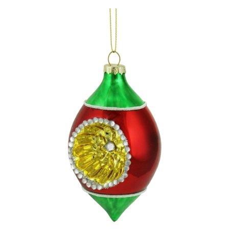 Northlight Retro Reflector Christmas Tear Drop Ornament