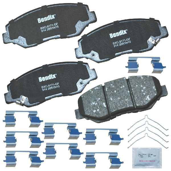 For 2013 2014 Honda Accord LX LX-S 2.4l Front Ceramic Brake Pads Hardware