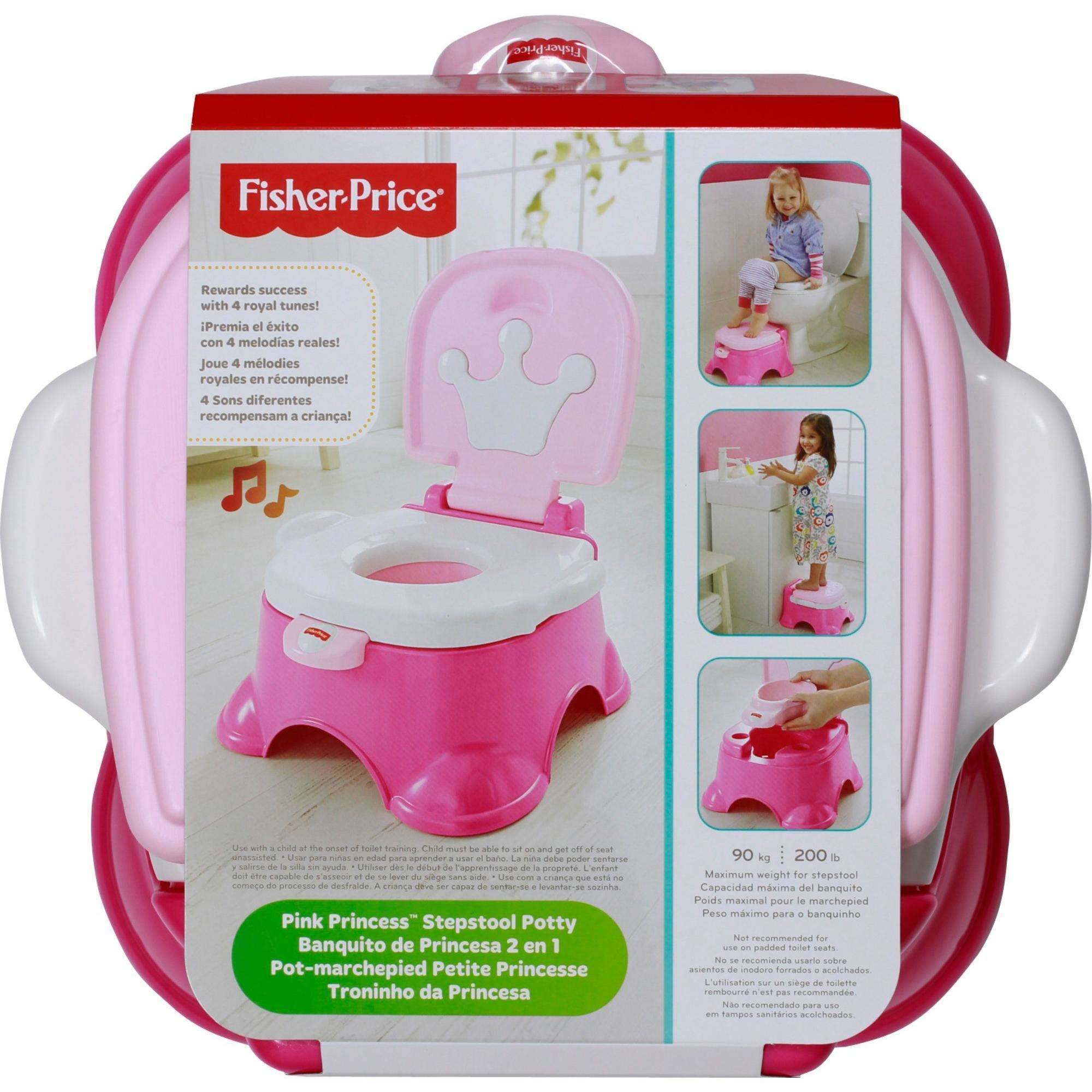 Strange Fisher Price Pink Princess Stepstool Potty Training Seat Pabps2019 Chair Design Images Pabps2019Com