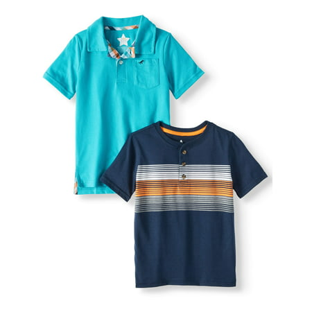 Polo Corduroy Shirt Top (Polo Shirt & Henley Shirt, 2-Piece Multi-Pack (Little Boys & Big Boys) )