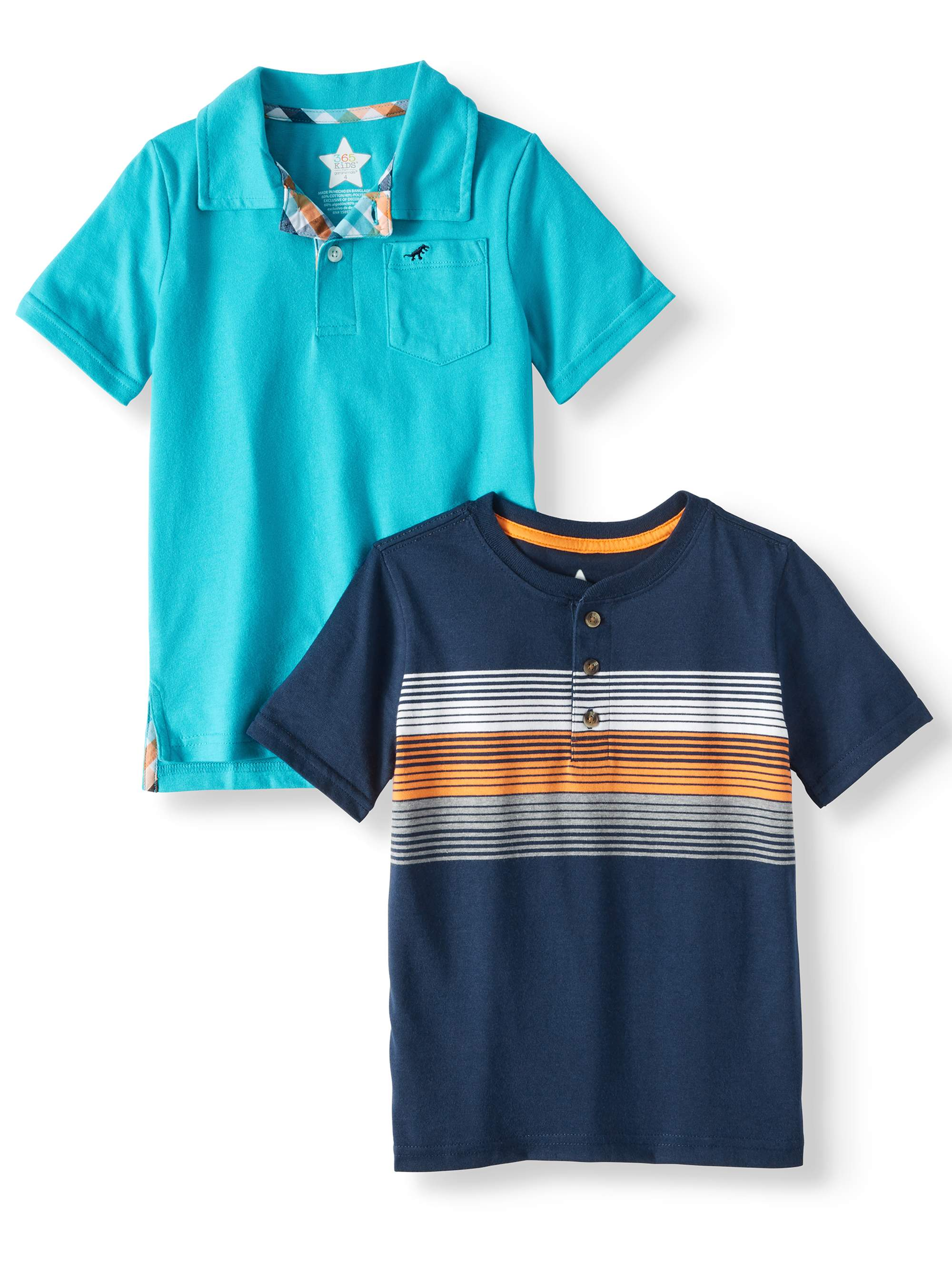 Polo Shirt & Henley Shirt, 2-Piece Multi-Pack (Little Boys & Big Boys)