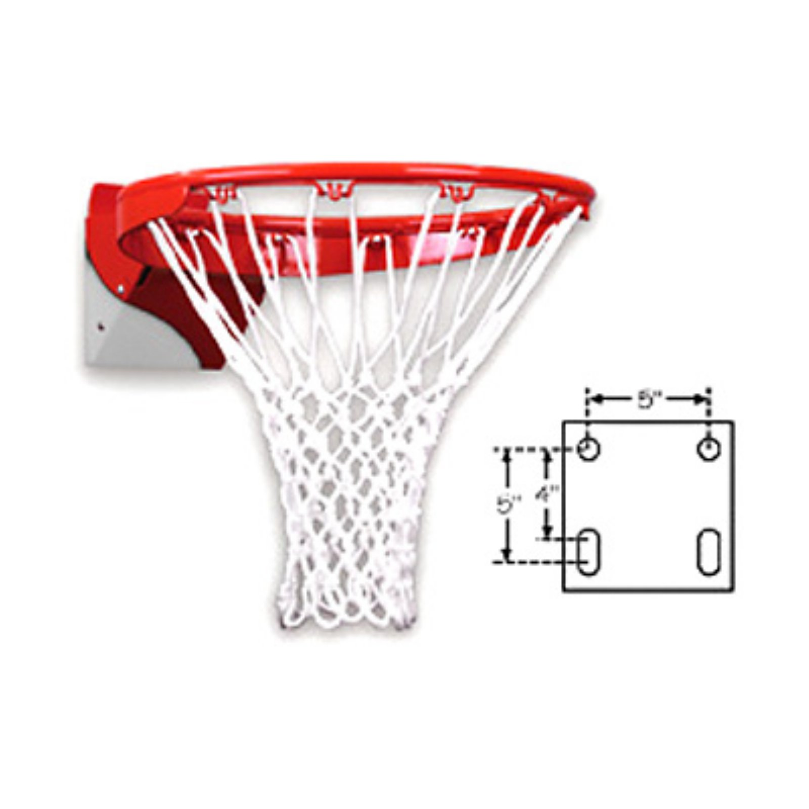 First Team Heavy Duty Flex Basketball Goal - Zinc Coated