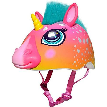Raskullz Super Rainbow Corn Hair Helmet, Dark Pink - image 1 de 4
