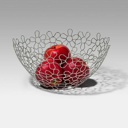 Spectrum Shapes Flowers Round Fruit Bowl