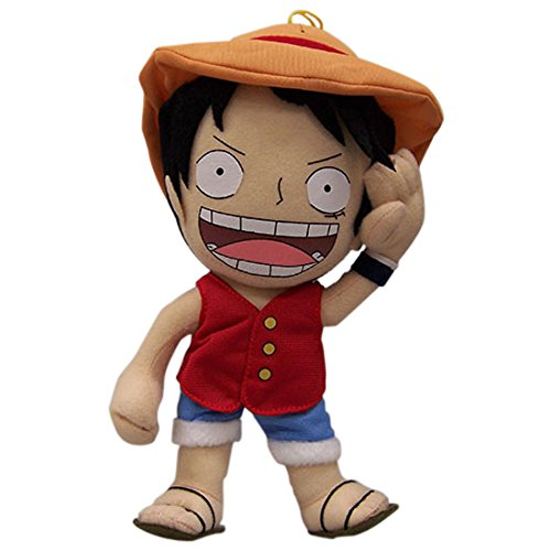 "Great Eastern GE-8986 One Piece 10"" SD Luffy Plush"
