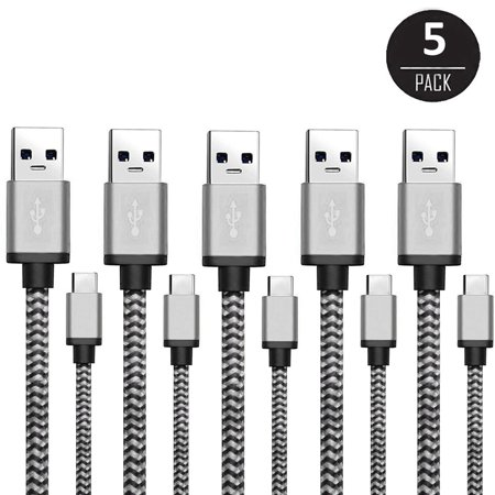 USB C Cable,EEEKit 5 Packs USB Type C 3.1 to USB 2.0 Charging Cable Connector Cord for Galaxy S8 S8 Plus,LG G6 V20 G5, N