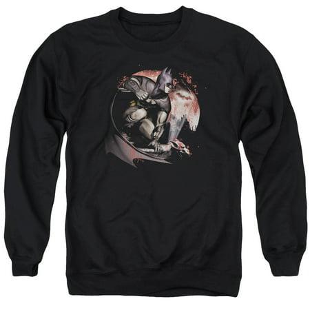 Moon Crewneck Sweatshirt (Batman Arkham City DC Comics Blood Moon Adult Crewneck Sweatshirt )