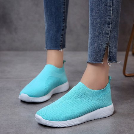 Meigar Women's Mesh Running Sport Sneakers Trainers Flat Athletic Slip On Casual