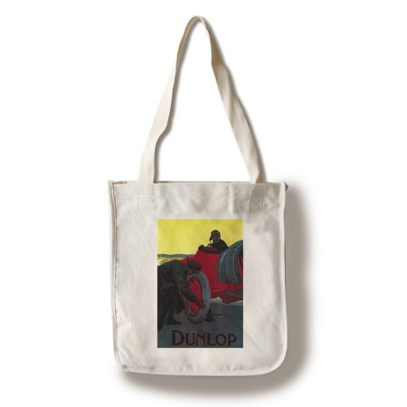 Dunlop Vintage Poster (100% Cotton Tote Bag - Reusable)