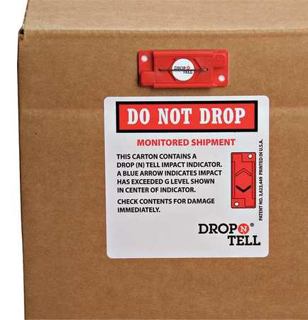 DROP N TELL DRO-525Y G-Force Indicator, Resettable, 5G, PK25