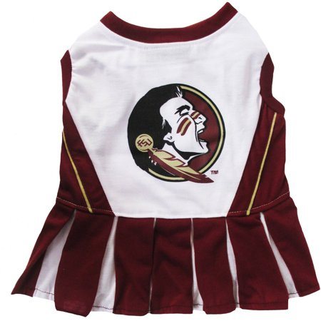 Pets First College Florida State Seminoles Cheerleader, 3 Sizes Pet Dress Available. Licensed Dog Outfit](Dog Cheerleader Outfit)