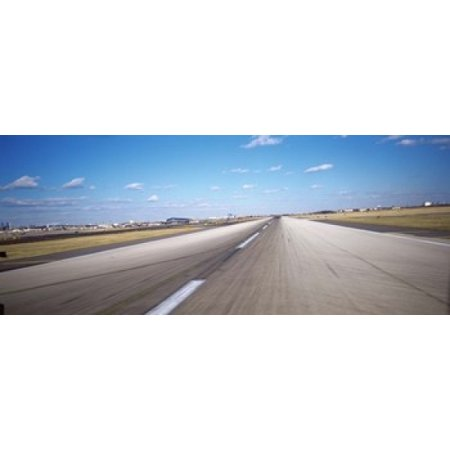 Runway at an airport Philadelphia Airport New York State USA Poster Print