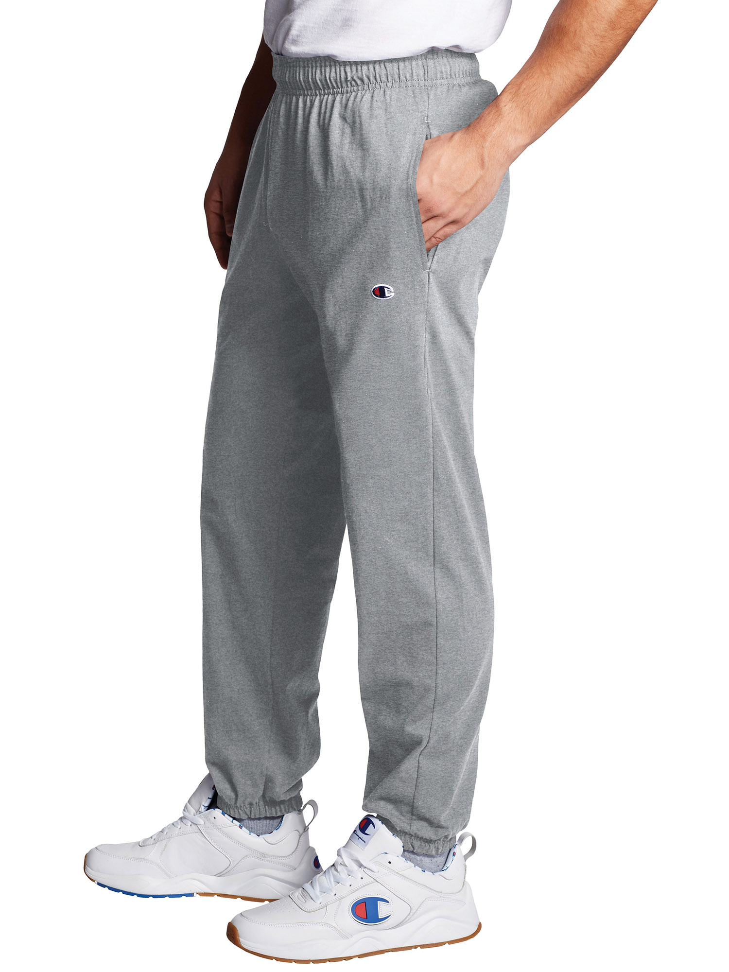 Champion Men Sweatpants Joggers Jersey Sweat Pants Black Medium 100/% Cotton Gift