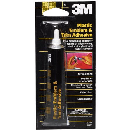 3m 03601 plastic emblem and trim adhesive ebay. Black Bedroom Furniture Sets. Home Design Ideas