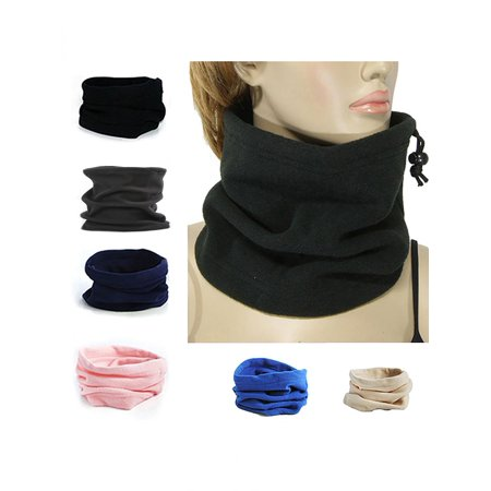 - Girl12Queen 4 In 1 Winter Sports Thermal Fleece Scarf Snood Neck Warmer Face Mask Beanie Hat