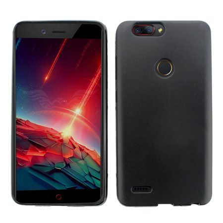 ZTE Zmax Pro 2 Case, by Insten TPU Rubber Candy Skin Shell Back Gel Case Cover For ZTE Zmax Pro 2 - Black - image 2 de 4