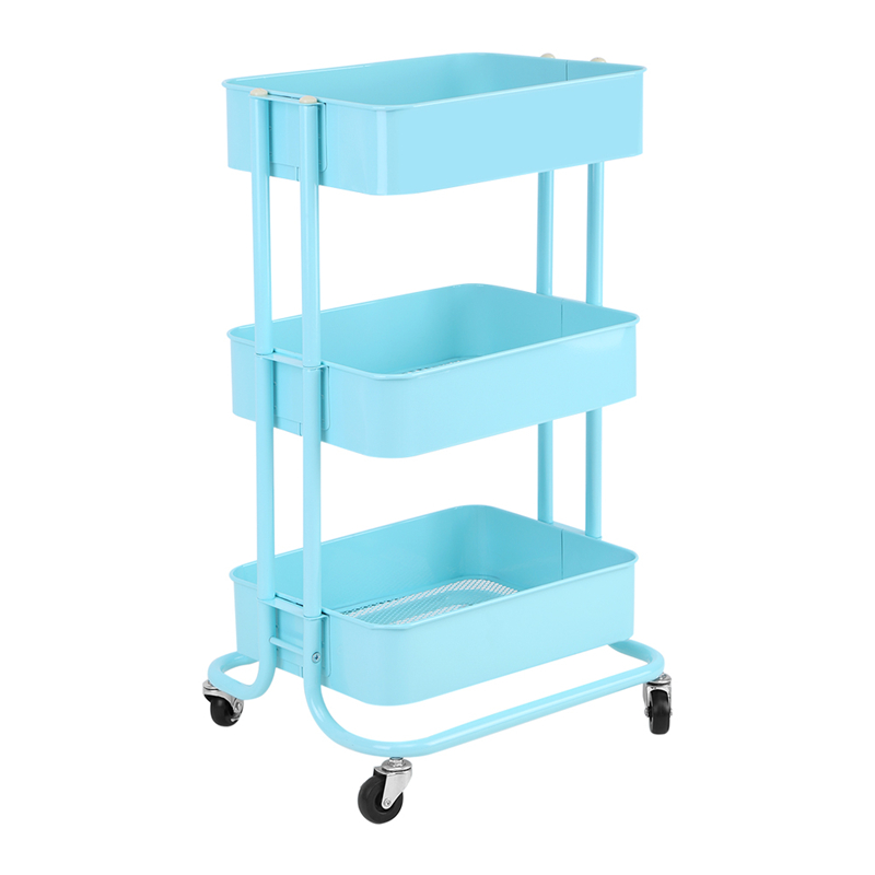3 tiered storage trolley cart rolling trolley with wheels