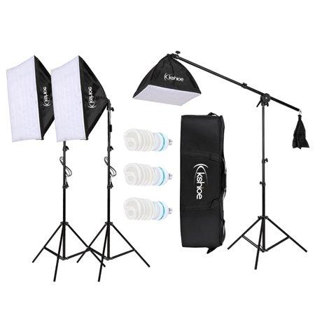 Zimtown Photo Studio Photography 3 Softbox Light Stand Continuous Kit Cost-Effective HOT - Lastolite Hot Shoe Ezybox Softbox