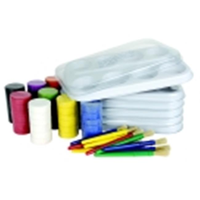 Sax Non-Toxic Classroom Tempera Cake Value Pack With And Storage Palette - Assorted Color