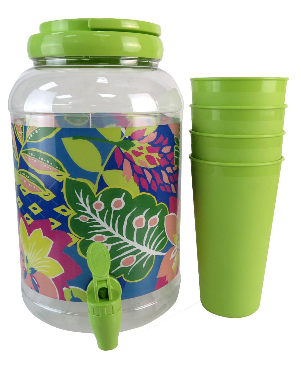 Botanical 5 piece Beverage Dispenser