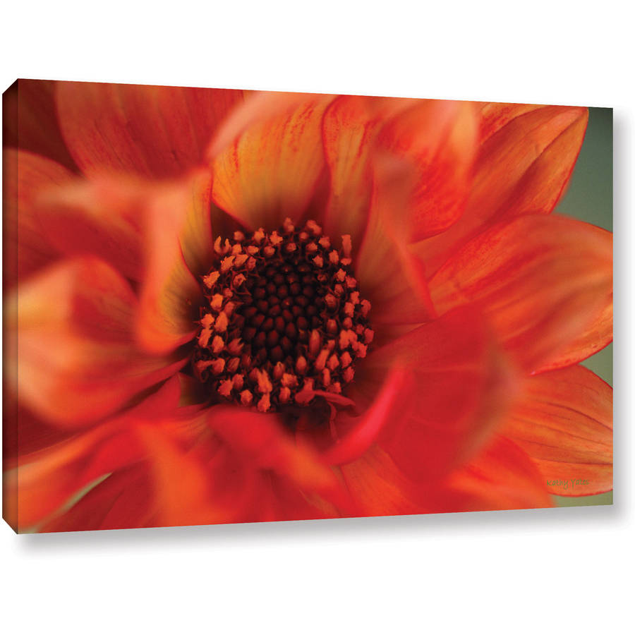 "Kathy Yates ""Fiery Dahlia"" Canvas Art"