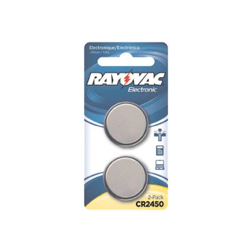 Rayovac Lithium 2450 Batteries, 2pk