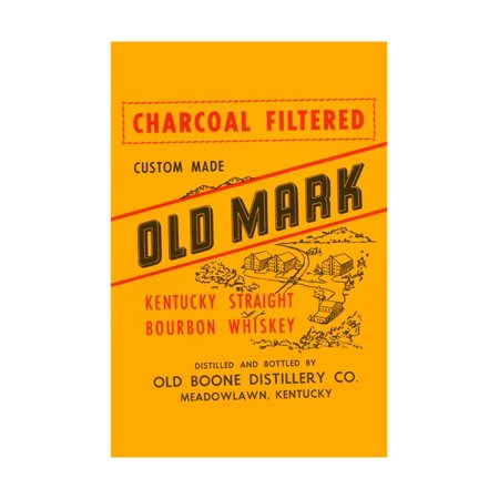 Charcoal Filtered Old Mark Kentucky Straight Bourbon Whiskey Print Wall
