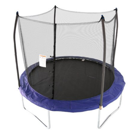 Skywalker Trampolines 10-Foot Trampoline, with Enclosure and Wind Stakes,
