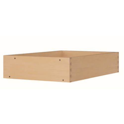Sunny Wood OLAUB18D Dovetail Drawers with Full Extension Soft Close Slides for Overlay Drawer Base 18
