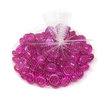 Glass Marble Gems Vase Filler 1.1 LB Bag, Pink ()