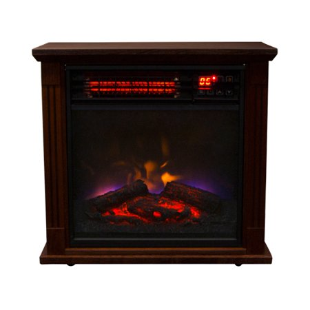 New 1500w Insert Electric Fireplace Quartz Infrared Heater 3 Color Flame Remote