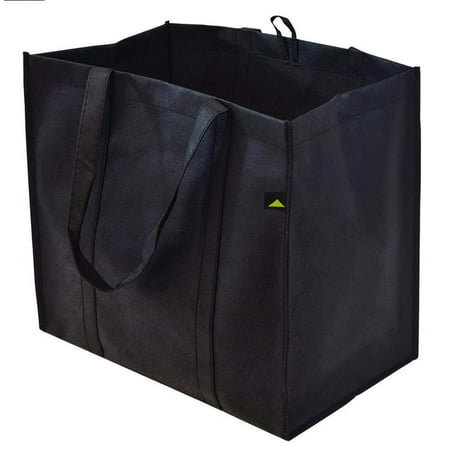 "15x9.5x13"" Extra Large & Super Strong Reusable Grocery Bags, Heavy Duty Shopping Bags, Foldable Collapsible Reusable Bags - Pack Of 5"