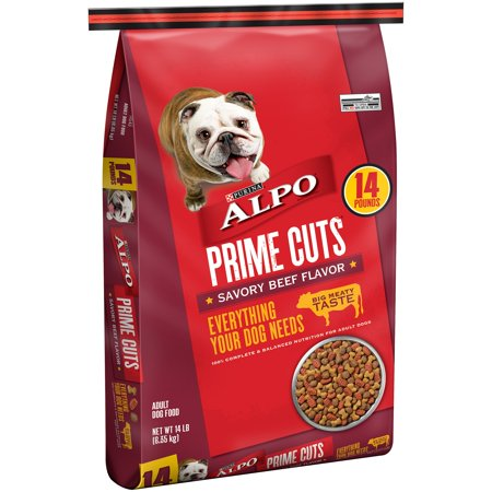Purina ALPO Prime Cuts Savory Beef Flavor Dog Food 14 lb. Bag - Savory Halloween Finger Foods