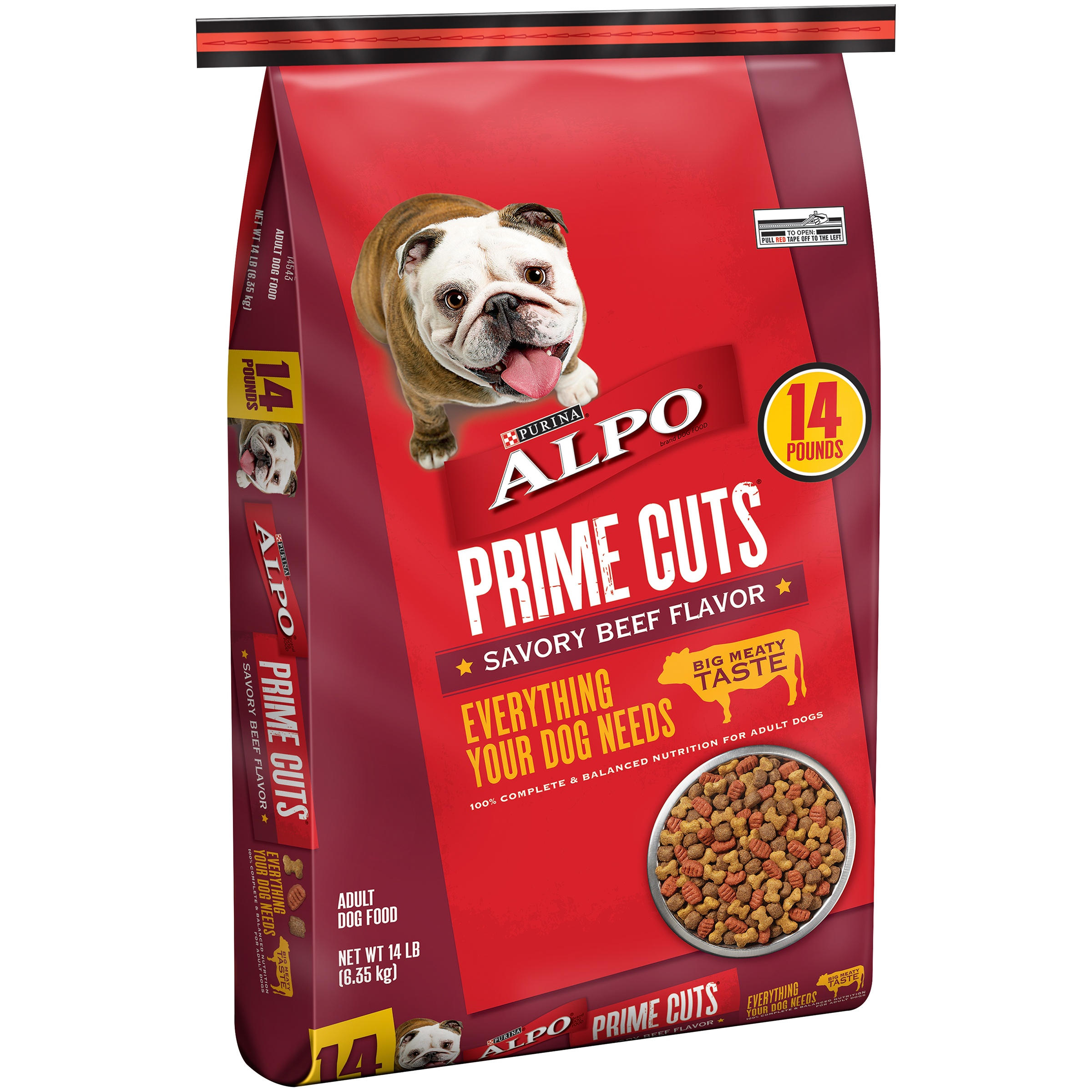 ALPO Prime Cuts Savory Beef Flavor Dog Food 14 lb. Bag