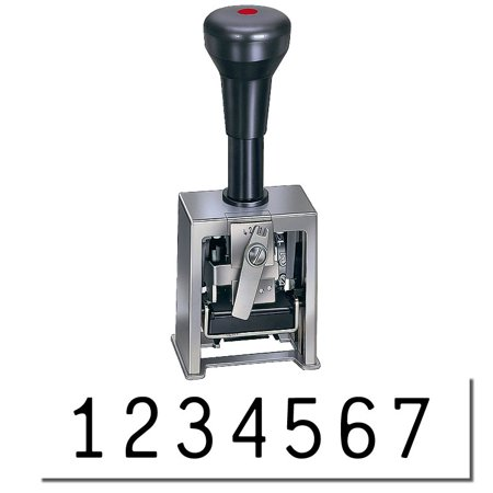 Numbering Machine 7 Wheels - 7 Wheel Numbering Machine Model 319 (Black Ink)