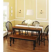 Better Homes and Gardens Autumn Lane 6-Piece Dining Set, Black and Oak
