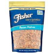 Fisher Chef's Naturals Pecan Halves, 24 oz