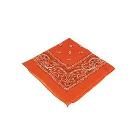 Orange Cowboy Cowgirl Western Bandana Head Scarf Costume Accessory - Cowgirl Bandana